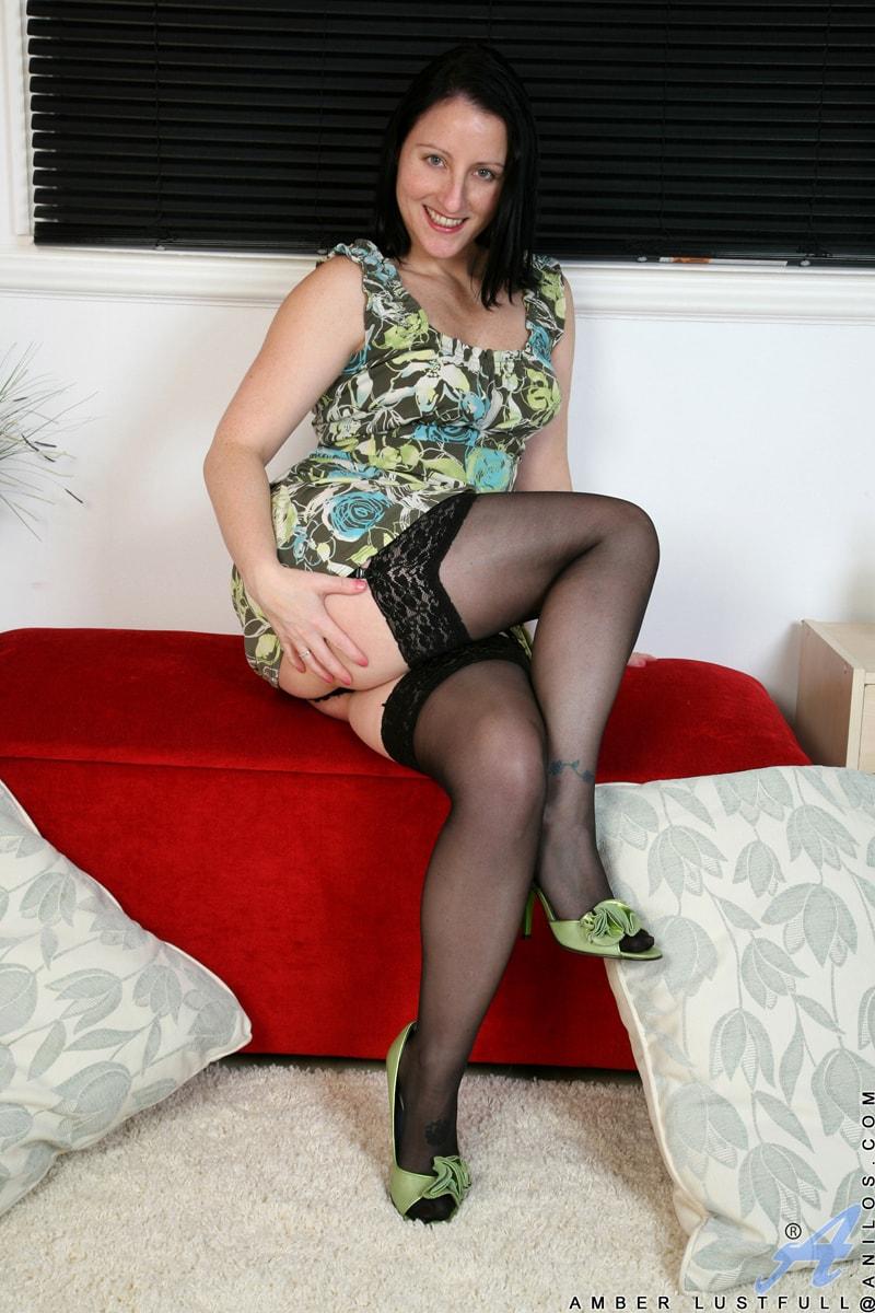 Anilos 'Hairy Pussy Masturbation' starring Amber Lustfull (Photo 3)