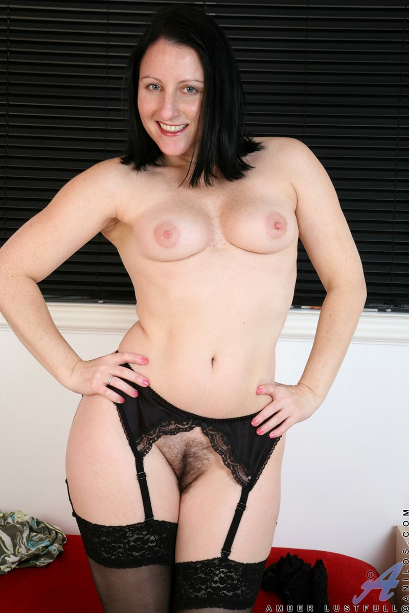 Anilos 'Hairy Pussy Masturbation' starring Amber Lustfull (Photo 14)
