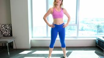 Claudia in 'Yoga Pants'