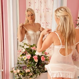 Sophie Kaye in 'Anilos' White Laced Lingerie (Thumbnail 3)